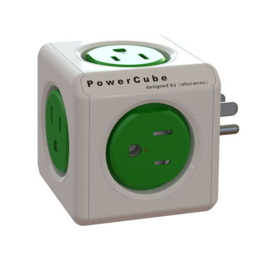 Power Cube  4100USORPC PowerCube Original 5 outlets Green