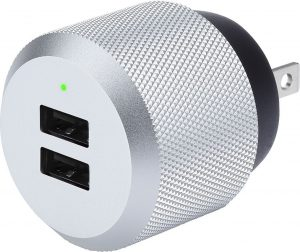 Just Mobile  PA168US AluPlug Luxury Wall Charger Silver